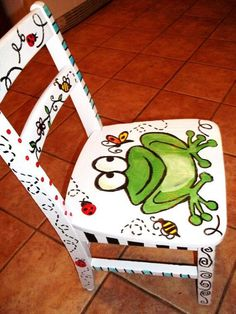 Painted Rocking Chairs | Pinned by Carolyn Bridges-Brown