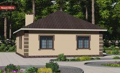 Проект дома B-122 - Проекты домов и коттеджей в Москве Gazebo, Shed, Outdoor Structures, Living Room, Building, Garden, House, Home Plans, Home
