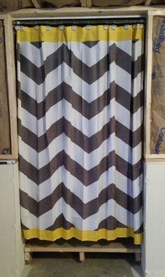 1000 Images About Yellow Grey Basement Office Inspiration On Pinterest Chevron Shower
