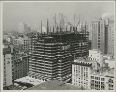 From the New York Public Library (except here noted): Photographs taken by Lewis Hine of the construction of the Empire State Building: Empire State Building, Ellis Island, World Trade Center, Tennessee, The Bowery Boys, Classic Photographers, Black And White Building, North Tower, Vintage New York