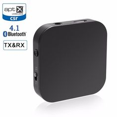 Low Price $18.55, Buy RIVERSONG Bluetooth Receiver Bluetooth Transmitter Portable Wireless Music Audio Adapter Aptx Low Latency Home Stereo System TV