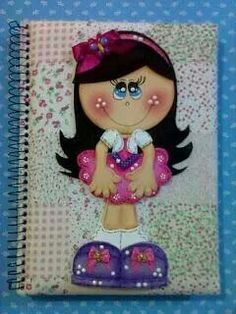 Arte en foami Foam Crafts, Diy And Crafts, Crafts For Kids, Arts And Crafts, Paper Crafts, Decorate Notebook, Foam Sheets, Class Decoration, Notebook Covers
