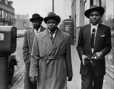 A trio of Jamaican immigrants walking the streets of Birmingham 1955