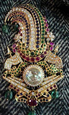 Two turban pins of Maharaja