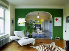 Green feature wall