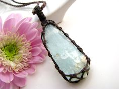 Healing crystal necklace, Birthstone jewelry, Aquamarine Necklace, crystal, Aquamarine, Birthday Gift , Healing crystals and stones