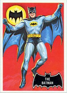 1966 Topps Batman Black Bat - The Batman trading card