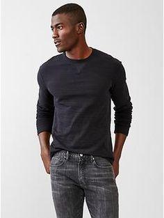 Double-knit slub T-shirt   Gap