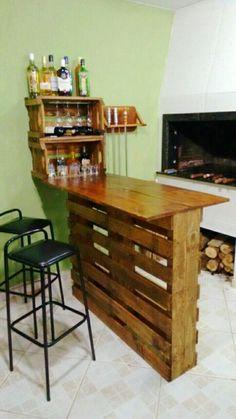 Diy Furniture Kitchen Island - New ideas Wood Pallet Furniture, Diy Furniture Couch, Diy Furniture Projects, Diy Furniture Plans, Kitchen Furniture, Kitchen Decor, Rustic Furniture, Home Bar Decor, Homemade Furniture