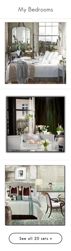 """""""My Bedrooms"""" by monika-jall ❤ liked on Polyvore featuring interior, interiors, interior design, home, home decor, interior decorating, Park B. Smith, NKUKU, Bulova and Winter"""