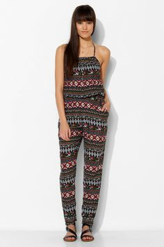Band Of Gypsies Open-Back Halter Jumpsuit #UrbanOutfitters
