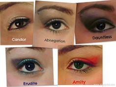 #divergent #makeup #divergente #trucco #red #blue #grey #black #yellow
