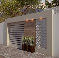 Reggie' s modern wall Reggie & # s moderne Wand House Entrance, House Front, Exterior Wall Design, Fence Design, House Gate Design, Gate Wall Design, Exterior Design, Compound Wall Design, House Front Design