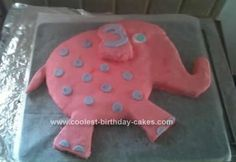 you could use a round cake as the body & cut out legs and head/trunk out of another round