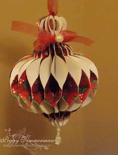 daily grace creations honeycomb ornament thank you gaby paper ornamentsblue christmasall