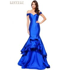 Magnificent layers of ruffles highlight this mermaid gown. Lucci Lu 8113 is  a stunning display 800c62f3908b