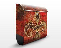 #Briefkasten #Vintage - Secret in Patina - Briefkasten mit Zeitungsrolle #orientalisch #Wohnen #Orient #1001 #Nacht