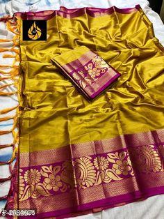 Cotton Silk Sarees with Blouse Piece from Shahjaan's Shop Gold Silk Saree, Silk Sarees, Georgette Sarees, Indian Beauty Saree, Indian Sarees, Cotton Blouses, Cotton Silk, Designer Sarees Online Shopping, Saree Photoshoot
