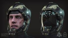 ArtStation - UEE Marine Helmet Concepts, Omar Aweidah