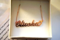Continuous - Freshness shows her gorgeous rose gold plated name necklace