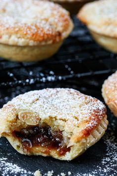 Frangipane Mince Pies with homemade pastry - serve warm or cold.