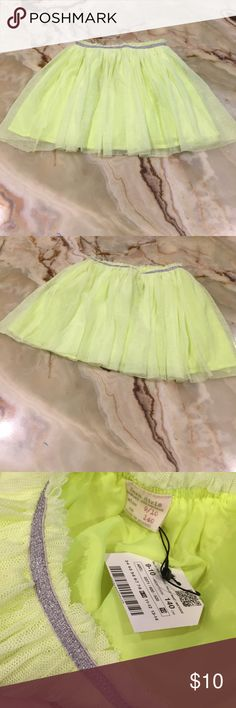 Zara Girls Casual Collection Tulle Pleated Skirt Zara Girls Tulle Skirt, Elastic Waist, Pleated, Silver embellished band waist, color green, fabric: polyester/ viscose, lined, New with tag, available in size 9/10; 13/14 Zara Bottoms Skirts