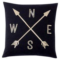 The Emily & Meritt Compass Pillow Cover