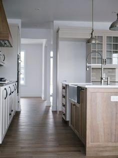 2 tone country style kitchen
