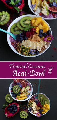 How to make an Acai bowl? Easy vegan Acai bowl with homemade rawnola. Not only is it vegan, it also contains no aditives or refined sugar