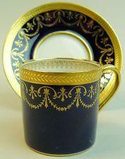 Antigo Limoges Charles abrenfeldt Porcelana Pires & Xícara de Gabinete C. 1910