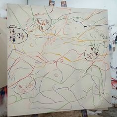 Spent the evening sketching in figures on a new large scale canvas. #fineart #paintings #fashion #contemporaryart #worksinprogress #process #sketch #figures #thebody #expressive #creative #inspiration #artoftheday #picoftheday #instaart #artistoninstagram http://ift.tt/2es9akz