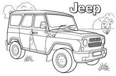 10 Gambar Jeep Coloring Pages Car Themes Terbaik Sketsa