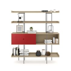 Shop the Margo Shelf by BDI at Price Match Guarantee and Expert Service. Minimalist Design, Modern Design, Belfort Furniture, Modern Bookcase, Unique Doors, Visual Comfort, Contemporary Furniture, Ideal Home, Storage Spaces