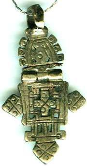 Ancient Artifact Egypt Genuine Ancient Coptic Christian Silver Cross Pendant 550 AD Contemporary silver electroplated chain #48428