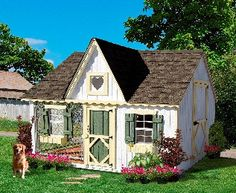 8 x 10 Victorian Cottage Kennel Panelized Kit