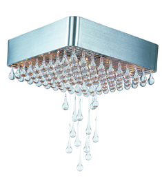 Buy the Maxim Brushed Aluminum / Clear Glass Direct. Shop for the Maxim Brushed Aluminum / Clear Glass Drops Wide 9 Light Ceiling Light and save. Flush Mount Chandelier, Flush Mount Ceiling, Ceiling Fixtures, Light Fixtures, Ceiling Lights, Semi Flush Lighting, Modern Lighting Design, Maxim Lighting, Hanging Crystals