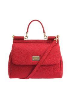 DOLCE & GABBANA Miss Sicily medium cardinal damask bag