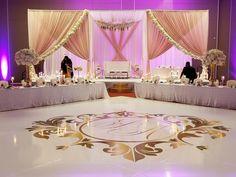 Quinceanera Decorations, Wedding Stage Decorations, Backdrop Decorations, Backdrops, Bride Groom Table, Head Table Wedding, Dance Floor Wedding, Floor Decal, Wedding Mandap