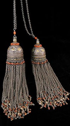Antique Silver Bucharan Tassles                                                                                                                                                                                 More