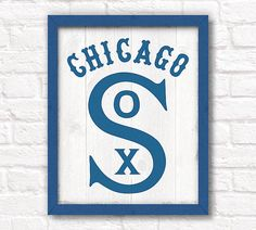 Vintage Chicago White Sox  rustic 16x20 by thePaintedLlama on Etsy, $50.00