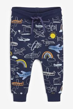 Buy Navy Aeroplane All Over Print Joggers from the Next UK online shop Kids Pants, Kids Shorts, Trendy Boy Outfits, Jogging Bottoms, Summer Pants, Childrens Shoes, Next Uk, Uk Online, Shopping Bag