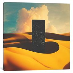 Monolith I Canvas Print by lacabezaenlasnubes - MEDIUM Outer Space Wallpaper, Framed Art Prints, Canvas Prints, Music Artwork, Yellow Art, After Life, Psychedelic Art, Surreal Art, Collage Art