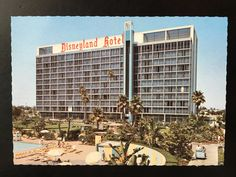 Vintage Disneyland Hotel Postcard - Scalloped Edge - View from the Tower Building by VintageDisneyana on Etsy