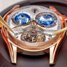 #Speechless  Feast your eyes on a @MontBlanc - Villeret Tourbillon Cylindrique Geosphères Vasco da Gama... Limited to 18 pieces!  A great capture by our friends at @Watch_Obsession. #Swiss #TourbillonTuesday #Tourbillon #MontBlanc #Watches #Horology #SwissMade #Luxury #GoshWeLoveTuesdays by tourbillontuesday