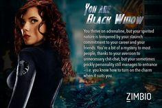 I took Zimbio's 'Avengers' quiz and I'm Black Widow! Who are you? #ZimbioQuiznull - Quiz