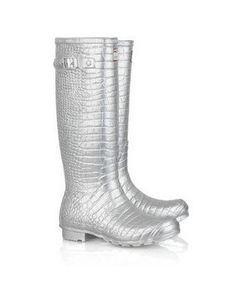 5c2083659fc0 Hunter   Jimmy Choo Crocodile-Embossed Boots Pink is on sale in the hunter  boots online outlet store that sell the cheap hunter boots.