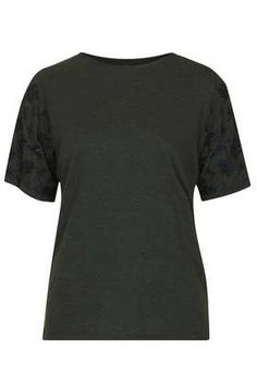 Top Shop Craft Embellished Sleeve Tee - Tops  - Clothing
