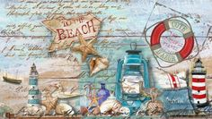 beach wooden sign collage