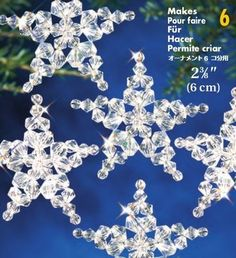 ConsumerCrafts is an online craft store that sells affordable art & craft supplies for jewelry making, scrapbooking, kids crafts & more. Beaded Christmas Ornaments, Christmas Jewelry, Handmade Christmas, Christmas Crafts, Christmas Decorations, Felt Christmas, Christmas Trees, Snowflake Craft, Snowflake Ornaments