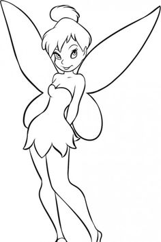 Tinker Bell Is A Very Cute And Cool Coloring Page